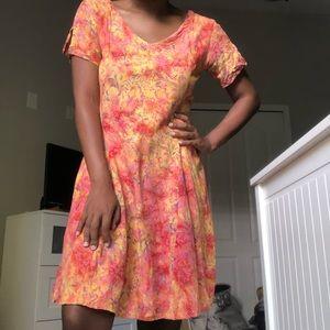 Vibrant, Vintage A-Line Dress